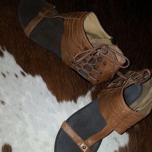 Leather nine west sandals
